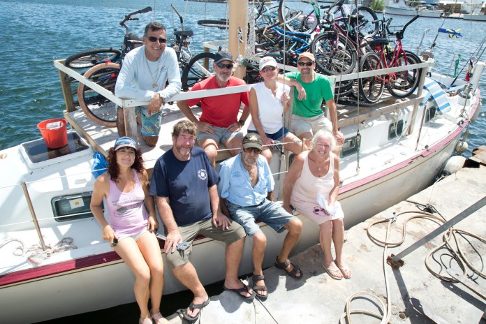 MORE HELP ON THE WAY – Conch Republic Navy sends relief to Bahamas - A group of people in a boat on a body of water - Sailboat