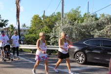 PINK ARMY – Inaugural bra walk in Key Largo sees large support - A young girl in a parking lot - Marathon