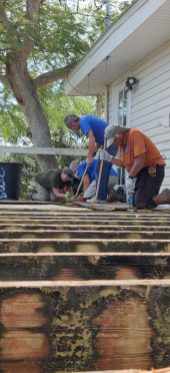 Guess what? Habitat is still helping homeowners recover from Irma - A group of people sitting on a bench - /m/083vt