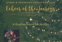 Singing season's greetings – Peter Mayer brings Christmas to Key West - A group of people on a stage - Christmas tree