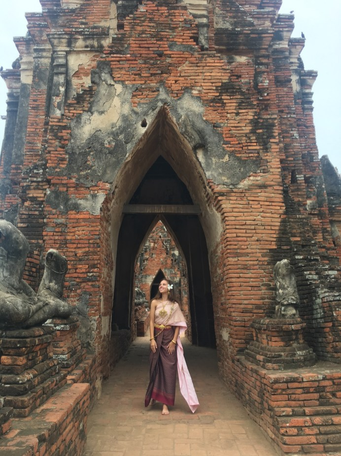 Caroline Althouse of Coral Shores High School immersed herself in Thailand, where she explored ancient temples. Contributed