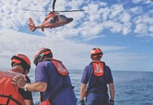 U.S. Coast Guard Auxiliary members from Islamorada team with Air Station Miami for a search and rescue training recently a short distance from the headspin at Snake Creek. DAVID GROSS/Contributed