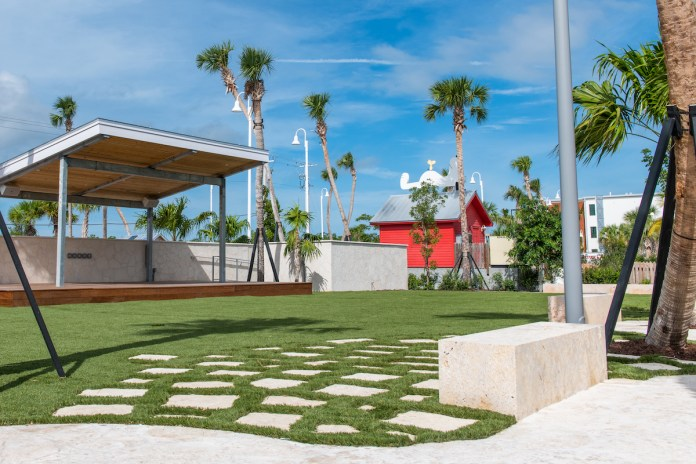 It takes a village… - A large lawn in front of a building - The Perry Hotel Key West