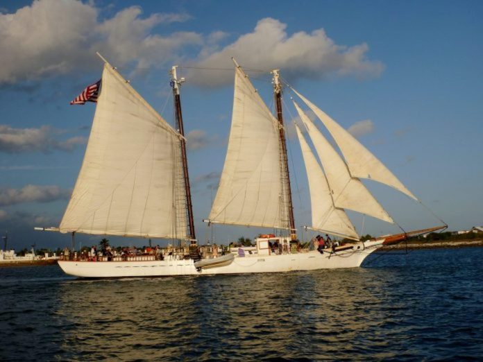 Saving a schooner – Historic flagship limps home to Key West - A large ship in a body of water - Sail