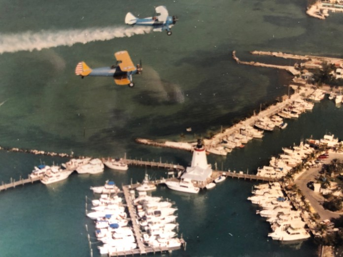 A visit with Marathon's past - A large ship in the water - Aerial photography