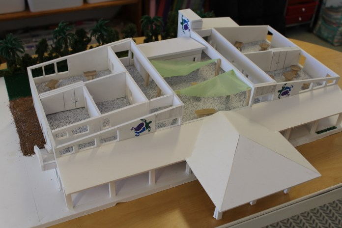 Ocean Studies moving to Key Largo - A box on a table - Scale model