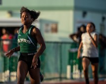 Alexis Terry runs her way to first in the 100 meter. AUSTIN ARONSSON/Keys Weekly