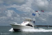A boat participates in the Upper Keys parade.