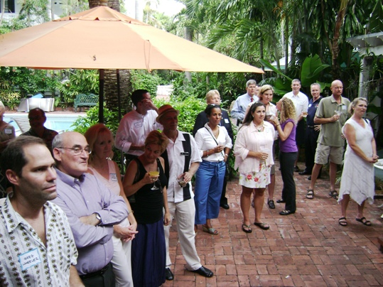 A recent pool party to meet with prospective class members made a splash at Key West's Garden Hotel