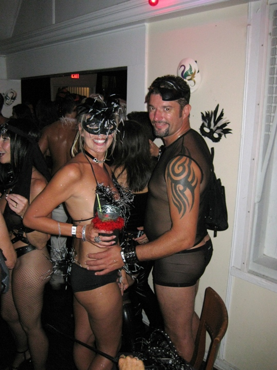 For the Fetish Party Monday at Kelly's the Mississippi girl embraces her darkest desires with boyfriend Carlo Coyne