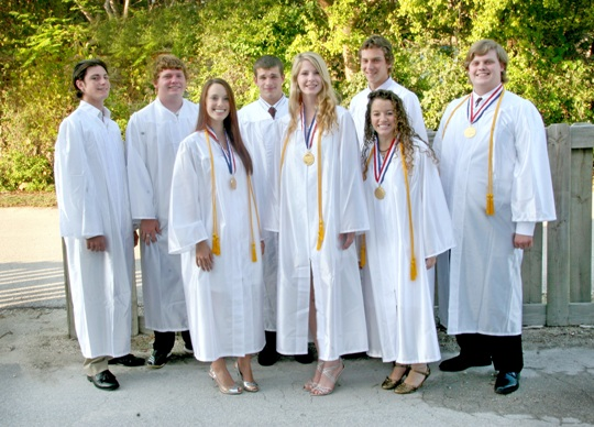 Island Christian School in Islamorada held a graduation ceremony for eight outstanding students