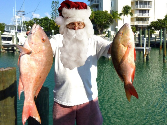 The day before Christmas I received quite a shock, when Santa and his reindeer showed up at the dock. Rudolph and Prancer, Dancer and Blitzen, looking for a captain to take them deep sea fishin