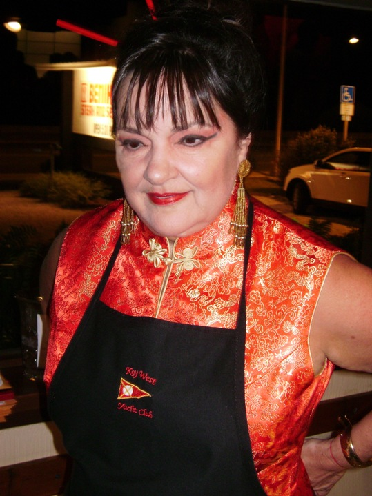 The winner of Benihana's Celebrity Chef Cook-Off tightens her apron so she doesn't end up wearing the food.
