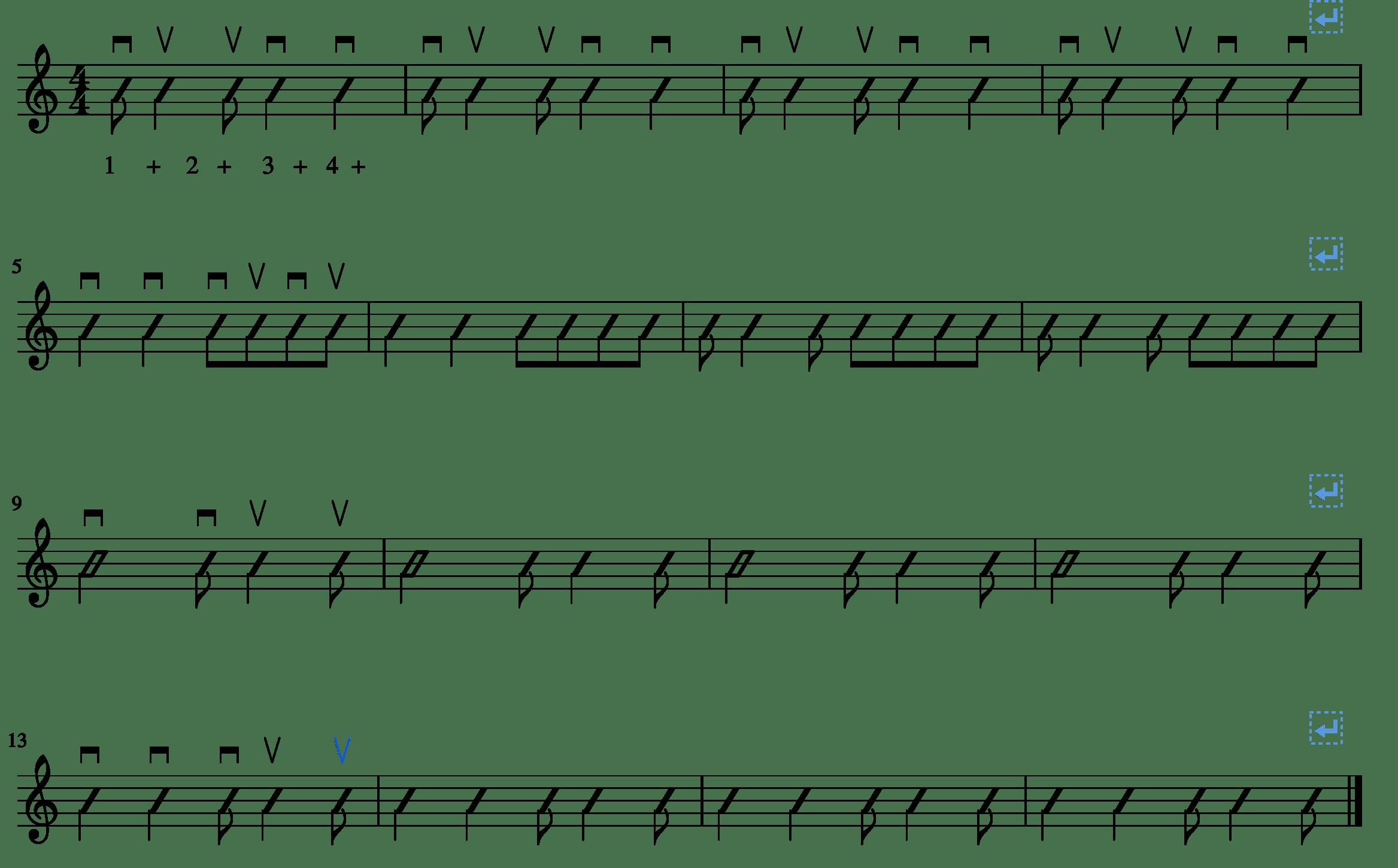 Eighth Quarter Eighth Syncopation
