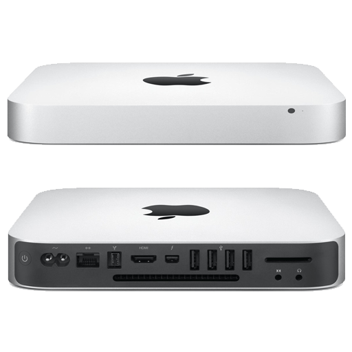 Front en rear views of a Apple MacMini