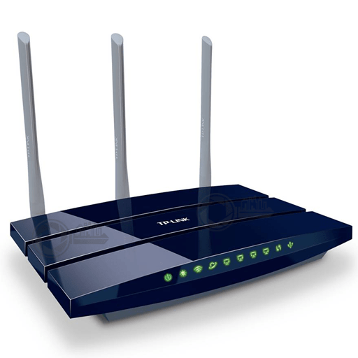 TP-Link Wireless N Gigabit Router TL-WR1043ND voorzijde rechts