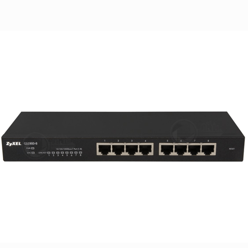Managed Switch Zyxel GS1900-8-port front