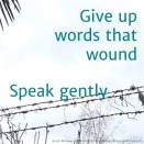 35 speak gently