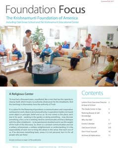 Foundation Focus Summer Fall 2017