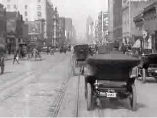 1905 ride on a cablecar