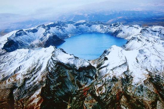 Monte Paektu como geoparque mundial.