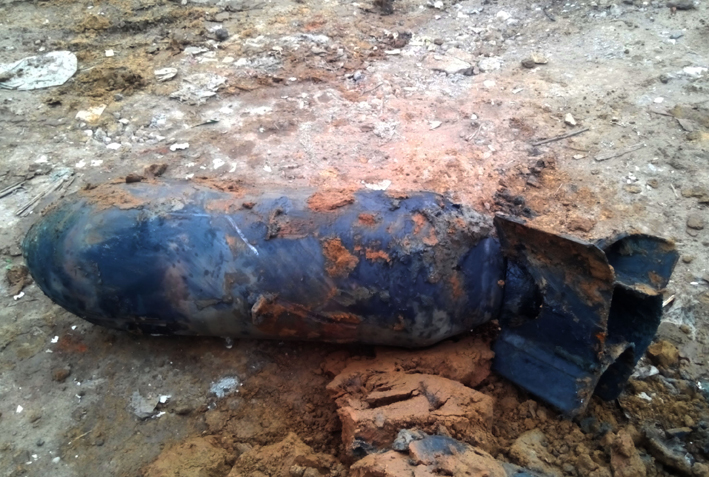 Eliminadas bombas sin estallar
