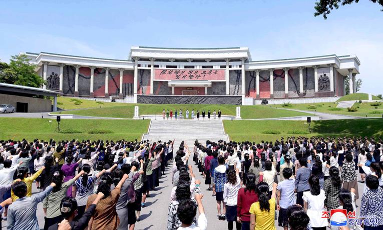 Mitin de mujeres en protesta por la actitud del sur de Corea.