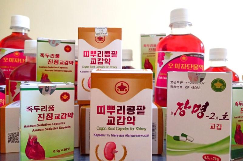 Medicamentos tradicionales coreanos.