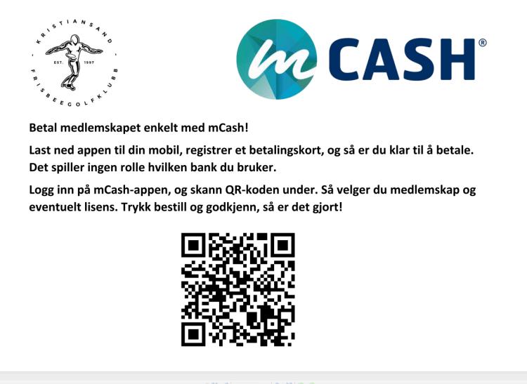 Mcash medlemskap