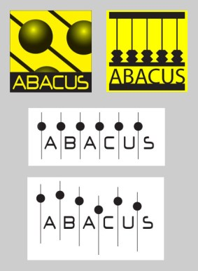 Logos for Abacus Bail Bonds (in Texas) by K. Fairbanks. The client chose the second logo, top row as the final design.