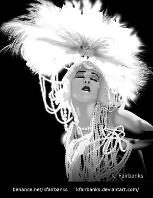 Alla Nazimova Digital Drawing by K. Fairbanks