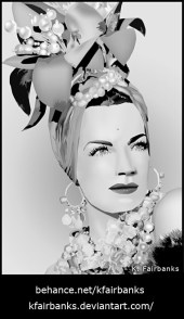 Carmen Miranda Digital Drawing by K. Fairbanks