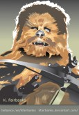Chewbacca on Endor drawing by K. Fairbanks