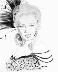 Marilyn Monroe as Kay Weston by K. Fairbanks