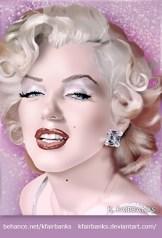 Marilyn Monroe Portrait - digital painting by K. Fairbanks