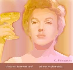 The Showgirl - Digital drawing of Marilyn Monroe by K. Fairbanks