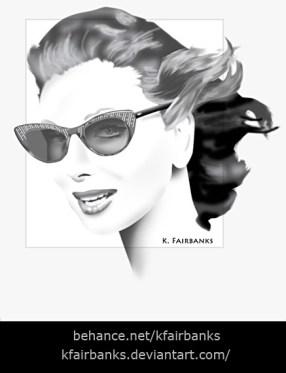 Sunglasses Portrait - a digital painting by K. Fairbanks