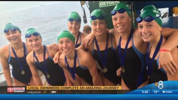Local swimmers complete an amazing journey - CBS News 8 ...