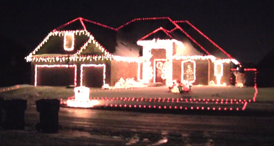 Christmas lights celebrate OU Bedlam Victory - Jeff Armstrong