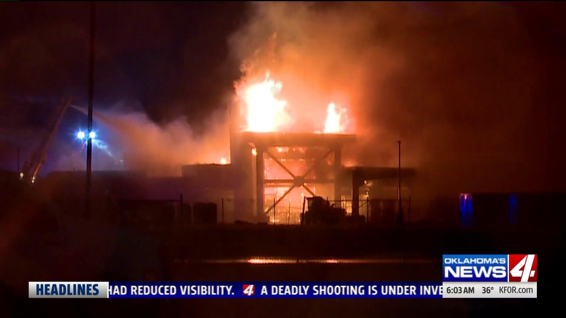 Fire at medical facility near I-240 and Air Depot