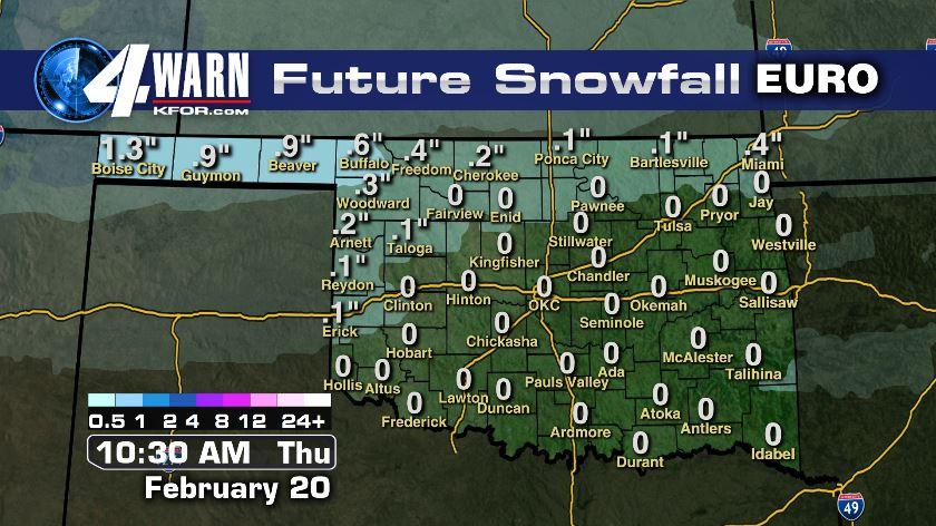 Snow Accumulations Map