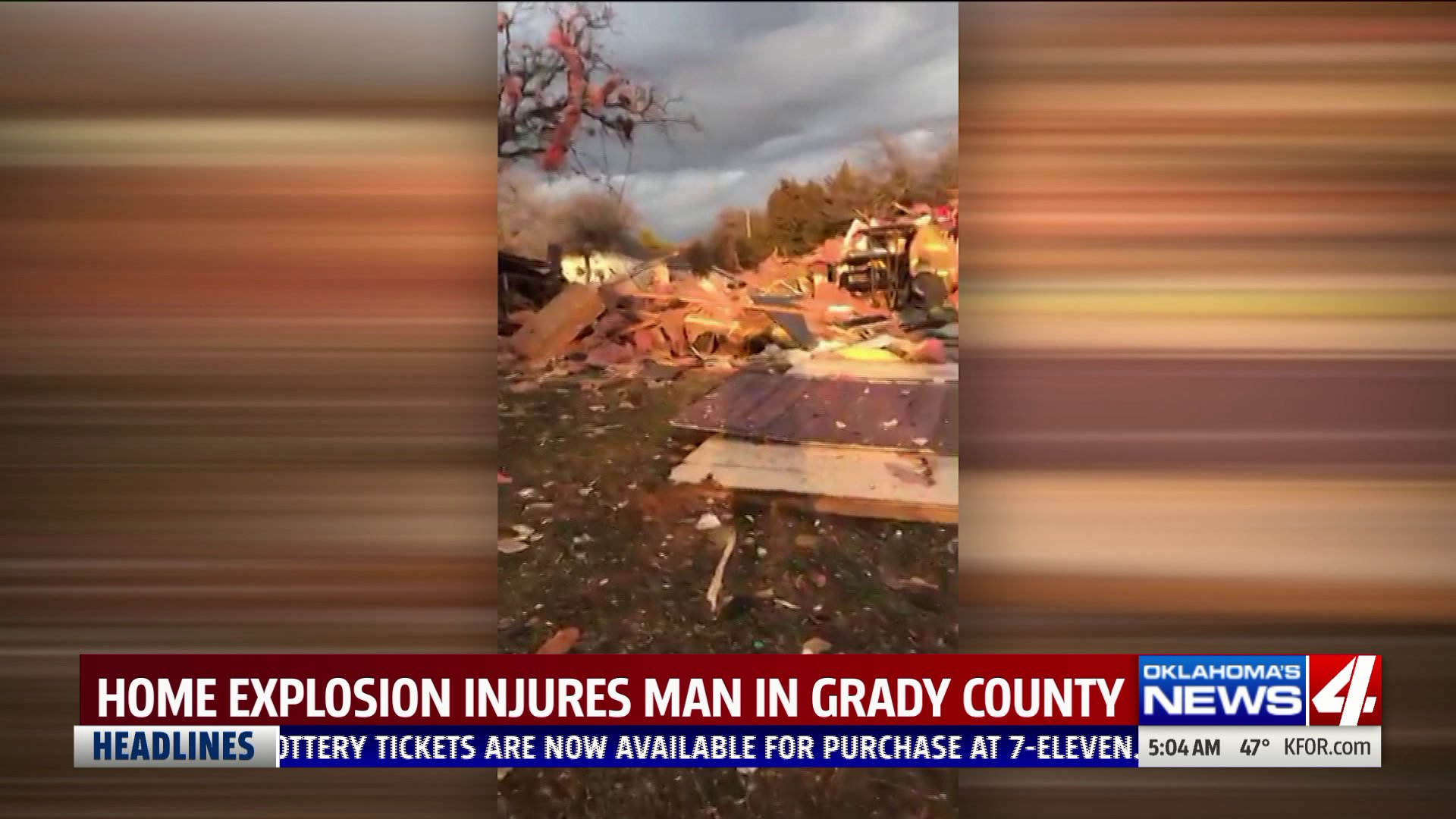 House explosion in Grady County