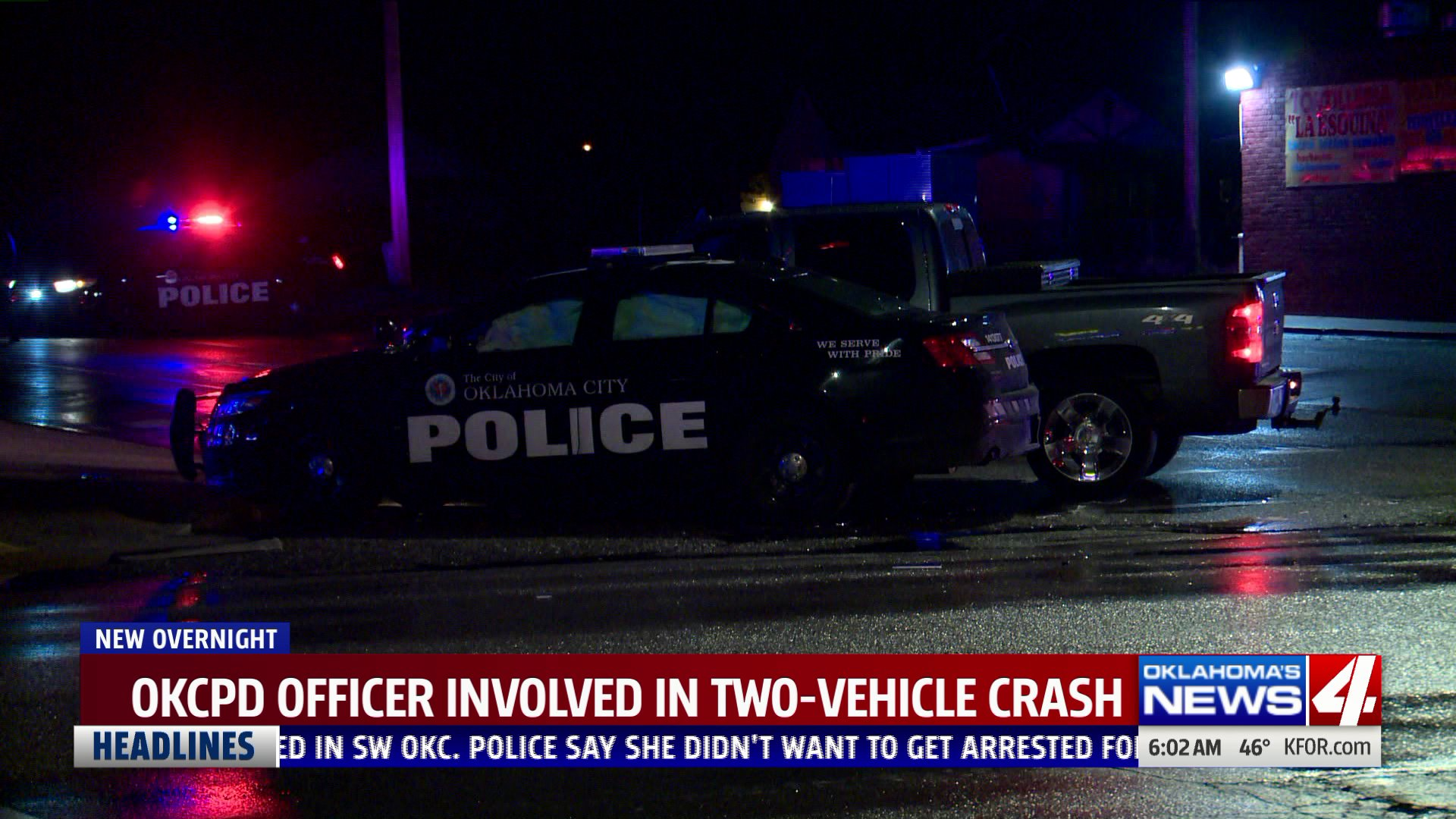 Patrol car involved in crash