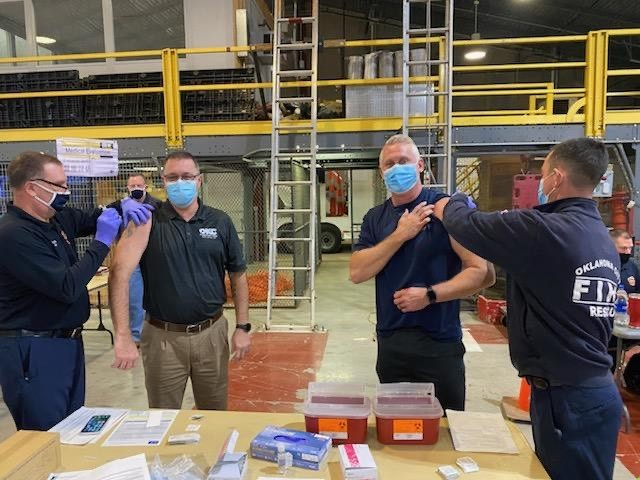 Oklahoma City firefighters receive initial COVID-19 vaccines