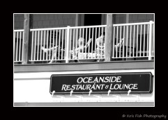 This family, with a condo above the shops in The Grand Victorian, chose to take the Oceanside Lounge literally!