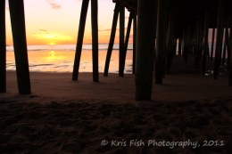 Sunrise captured from under The Pier in Old Orchard Beach.