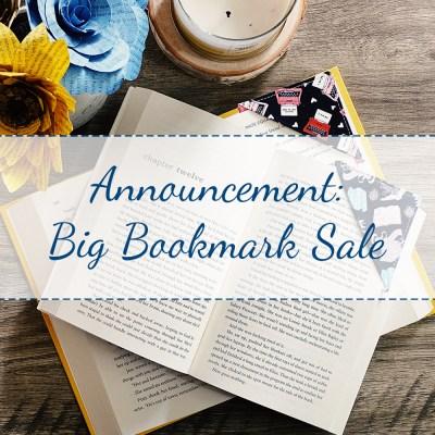 Big Bookmark Sale