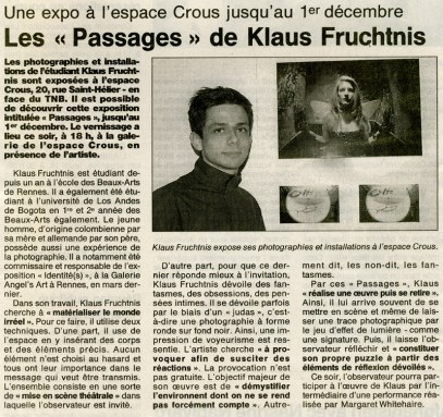Ouest France Newspaper, November 12th 2001, France