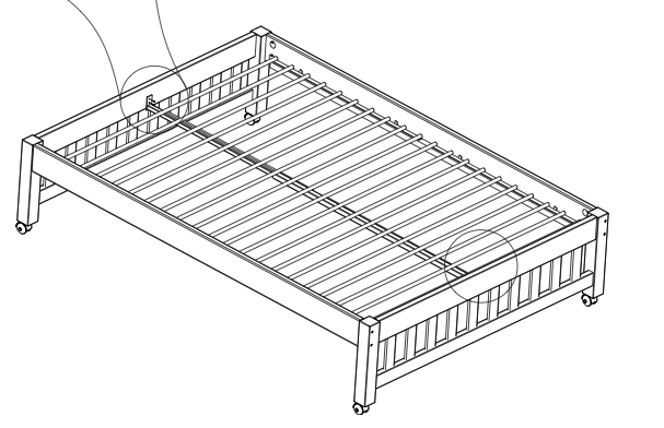 Metal Slat Support Rail For One Bed