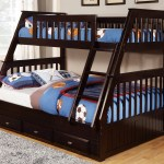 Discovery World Furniture Twin Over Full Espresso Mission Bunk Bed Kfs Stores